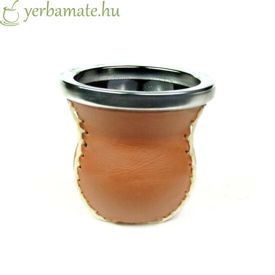 Matero Cuero - üveg mate kehely bőr borítással bronz