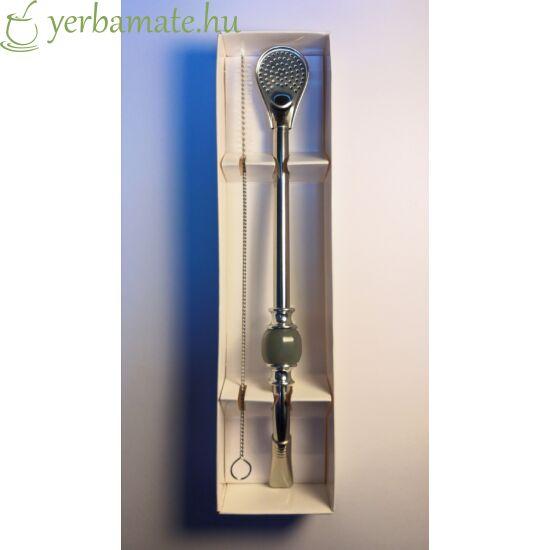 Bombilla DeLuxe, szürke, rozsdamentes (szívószál) 21cm