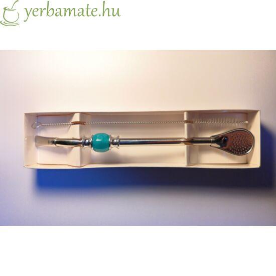 Bombilla DeLuxe, türkiz, rozsdamentes (szívószál) 21cm