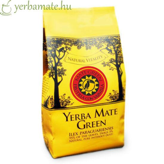 Yerba Mate Tea, Mate Green FRUTILLA CON VAINILLA (95% levél) 400g