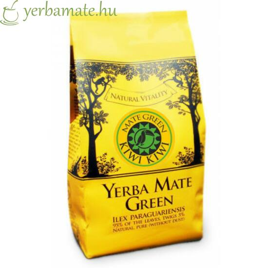 Yerba Mate Tea, Mate Green KIWI KIWI (95% levél) 200g