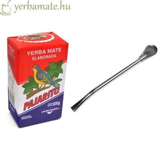 Yerba Mate Tea, Pajarito 500g + Bombilla Gaucho L csomag