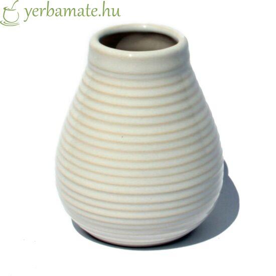 Fehér kerámia mate tök (Calabaza) 350 ml