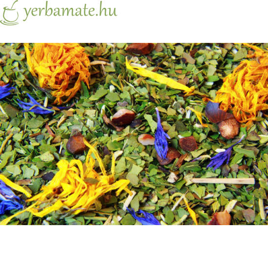 Yerba Mate Tea, Mate Green MÁS ENERGÍA GUARANA (95% levél) 400g