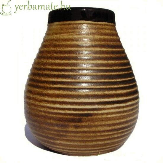 Rusztikus barna kerámia mate tök (Calabaza) 350 ml