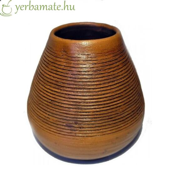 Kézműves kerámia mate tök (Calabaza)