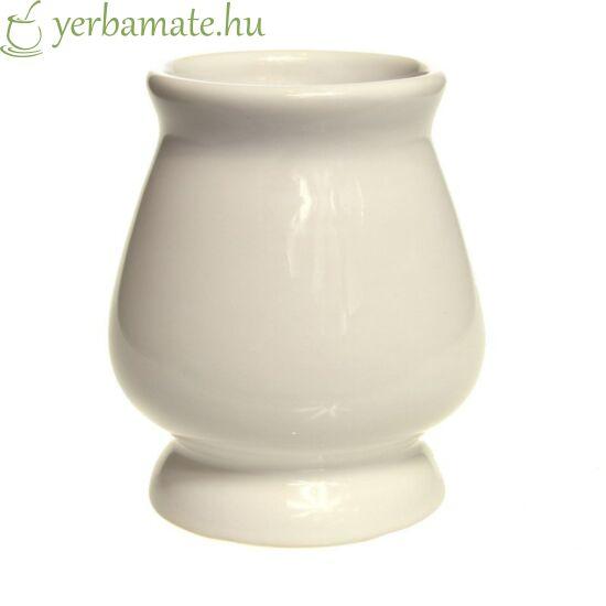 Fehér kerámia mate tök (Calabaza) 210 ml