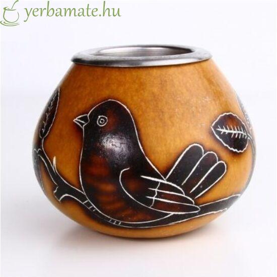Tradicionális kézműves mate tök (Calabaza), MADÁR szépséghiba