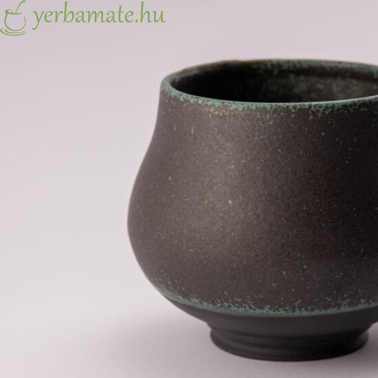 """""""Fekete párduc szeme"""" Fekete porcelán mate csésze max 200 ml"""