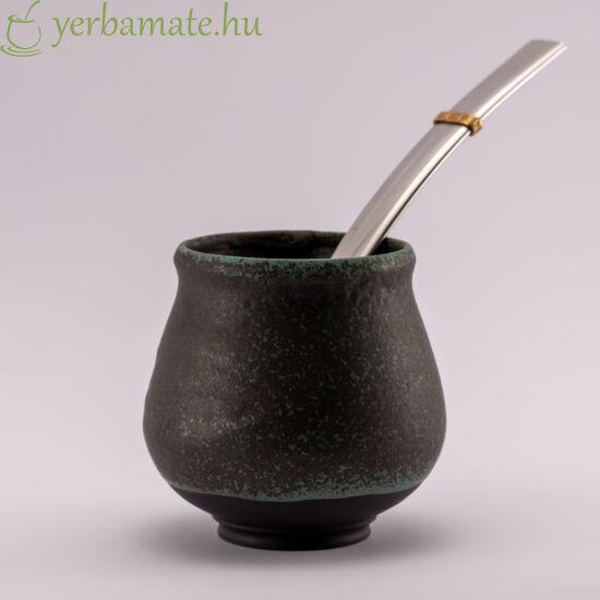"""""""Dzsungel éj"""" Fekete porcelán mate csésze max 200 ml"""
