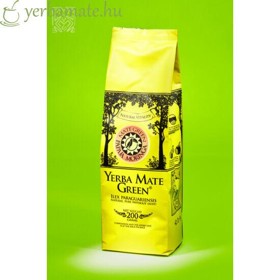 Yerba Mate Tea, Mate Green Papaya & Moringa (95% levél) 200g