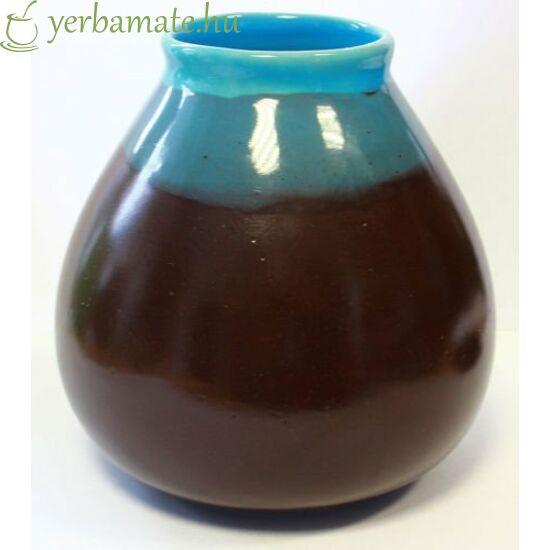"Matero ""CIELO"", barna-kék kerámia mate csésze"