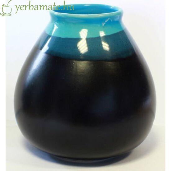 """Matero """"CIELO"""", fekete-kék kerámia mate csésze"""