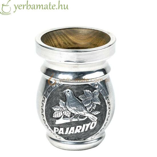 Matero Palo Santo - Fa mate kehely fém borítással -  Pajarito díszítéssel