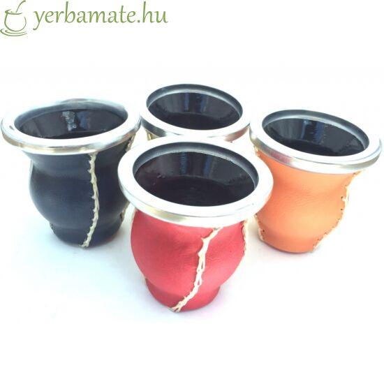 Matero Cuero - üveg mate kehely bőr borítással piros