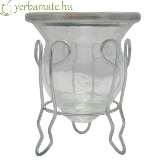 Matero Vidrio - Üveg mate kehely fém tartóval