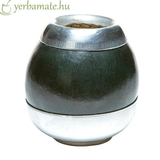 Tradicionális kézműves mate tök (Calabaza) fém talppal