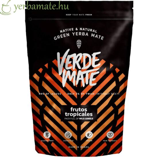 Yerba Mate Tea, Verde Mate Green Frutos Tropicales 500g