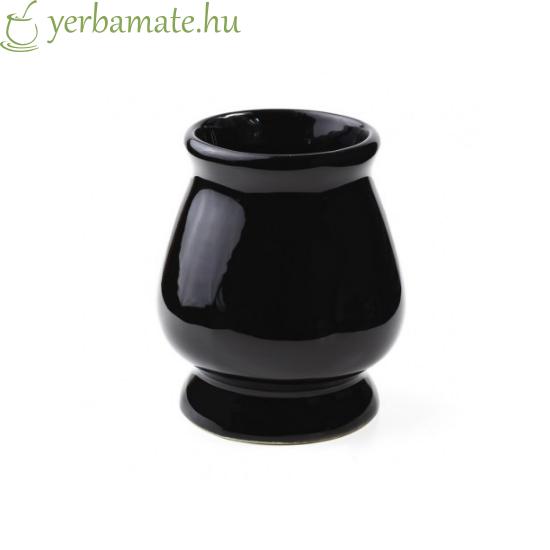 KIELICH kerámia mate tök (Calabaza) 210 ml fekete