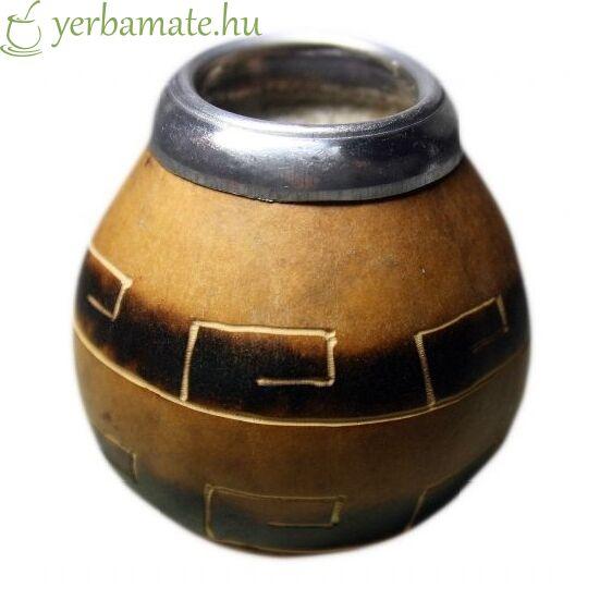 """Tradicionális kézműves mate tök (Calabaza), AZTECA  """"S"""""""