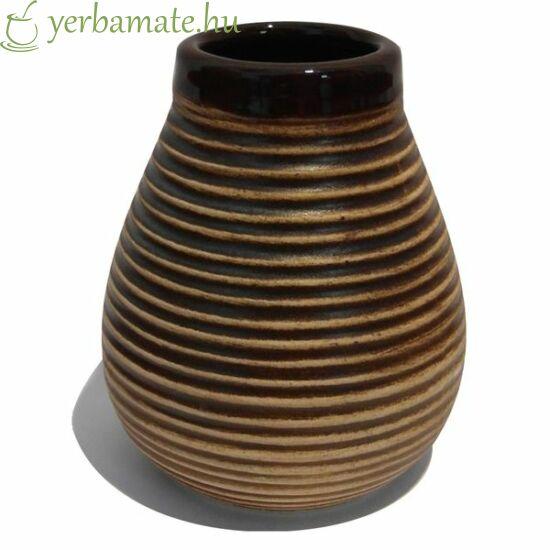 Rusztikus barna kerámia mate tök (Calabaza) 210ml