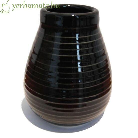 Fekete kerámia mate tök (Calabaza)