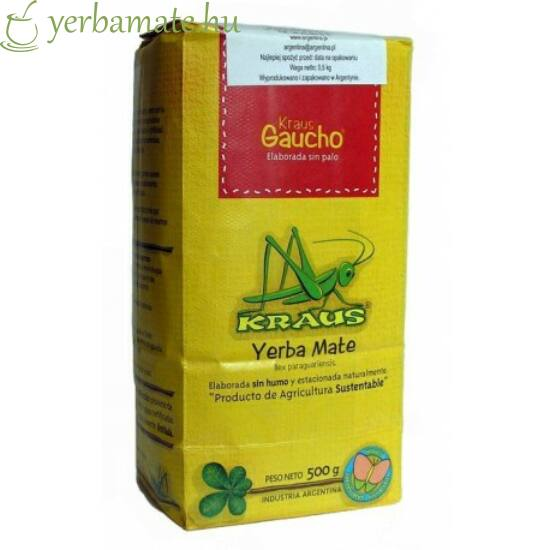 Yerba Mate Tea, Kraus Gaucho (Fair Trade) 500g