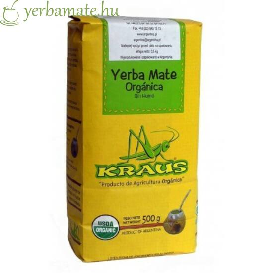 Yerba Mate Tea, Kraus Orgánica (Fair Trade) 500g