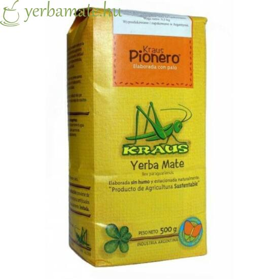 Yerba Mate Tea, Kraus Pionero (Fair Trade) 500g
