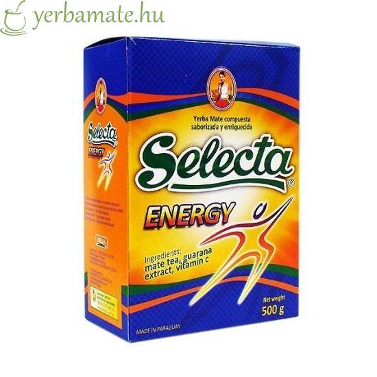 Yerba Mate Tea, Selecta Energy Guaranával 500g Akciós